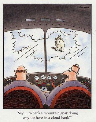 cabra montesa en una nube - Larson